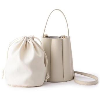 Couture Brooch(クチュールブローチ) プリーツミニバケツバッグ