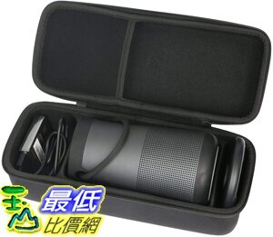 [9美國直購] khanka Case Travel Bag for Bose SoundLink Revolve Bluetooth Speaker (Fits Charging Cradle, A