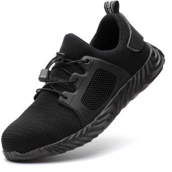 [ギャロップ] メンズ 安全靴 作業靴 レディース つま先保護靴 耐磨耗 セーフティーシューズ 衝撃吸収 防滑 耐油 ワーキングシューズ ユニセックス ブラック24.0CM
