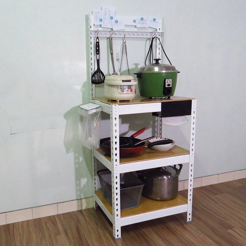 2尺白色廚房收納架 瀝水架 微波爐架 烤箱架 電器架 鐵架 置物架 廚房架 KRW2153【空間特工】
