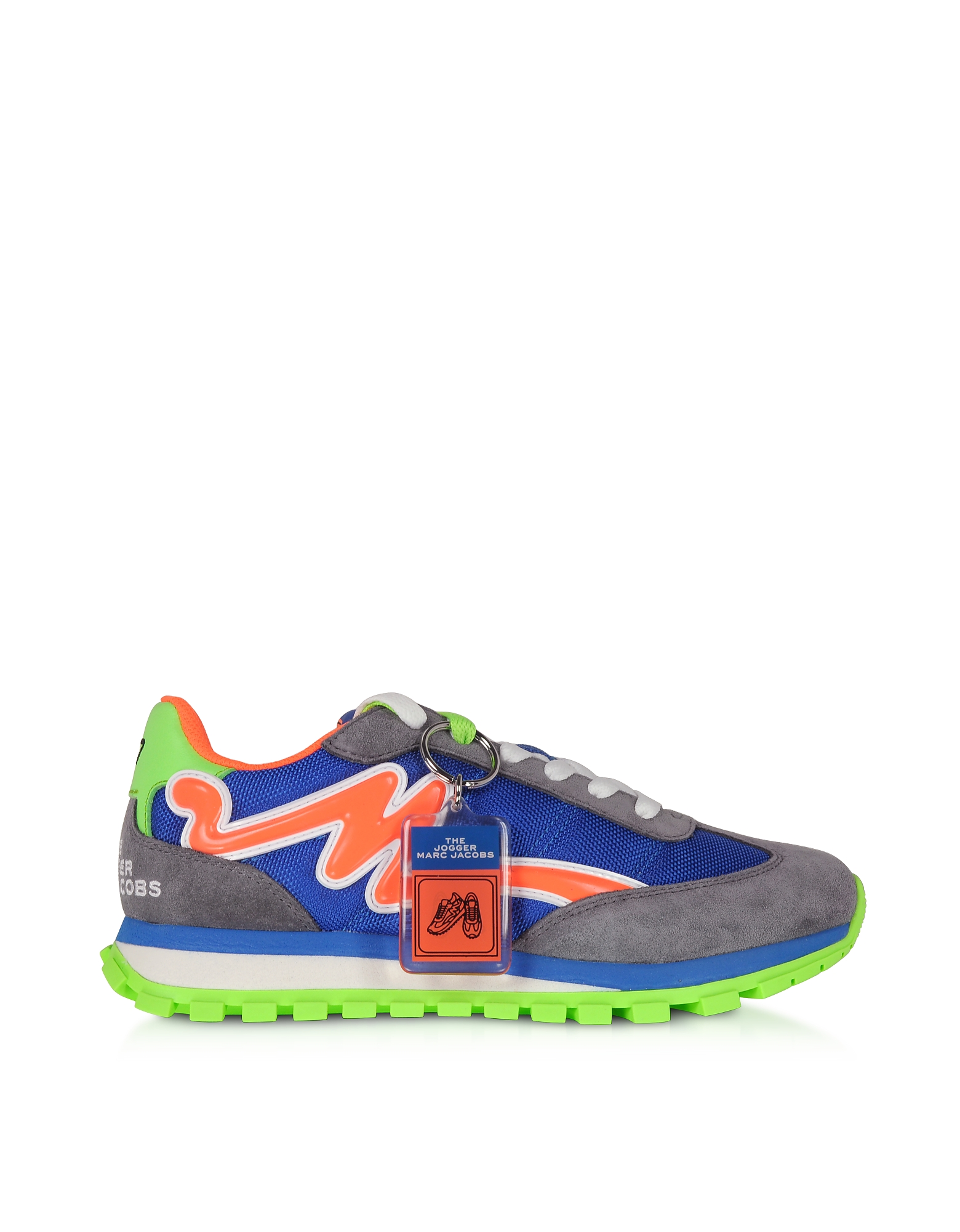 Marc Jacobs 雅克博 鞋履, 蜜桔和蓝色尼龙女士运动鞋