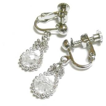 【小粒/馬蹄】水晶のイヤリング