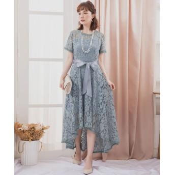 【30%OFF】 ドレス スター フィッシュテールレースワンピース レディース ブルー XLサイズ 【DRESS STAR】 【タイムセール開催中】