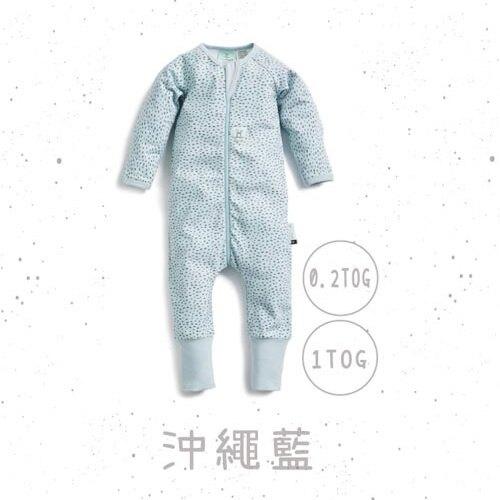澳洲 ergoPouch 長袖連身衣 0.2TOG 竹纖維 沖繩藍款★愛兒麗婦幼用品★