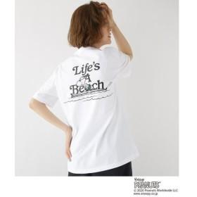 BASE STATION / ベースステーション ピーナッツ PEANUTS 別注 スヌーピー サーフ バックプリント 半袖 Tシャツ