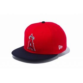 NEW ERA ニューエラ 9FIFTY ロサンゼルス・エンゼルス スカーレット × チームカラー ネイビーバイザー スナップバックキャップ アジャスタブル サイズ調整可能 ベースボールキャップ キャップ 帽子 メンズ レディース 57.7 - 61.5cm 12336626 NEWERA