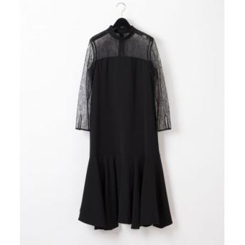 GRACE CONTINENTAL/グレースコンチネンタル レース切替ドレス ブラック 38