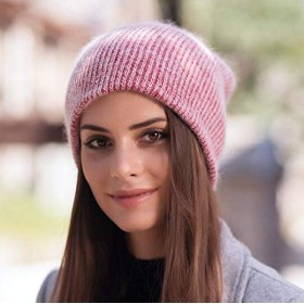 MYKUNSIA ニット帽 女性用カシミアビーニーラディーズニットスカルキャップ用冬帽子