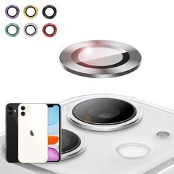 NISDA for iPhone 11 6.1吋 航太鋁鏡頭保護套環 9H鏡頭玻璃膜-一組含鏡頭環2個-紅色