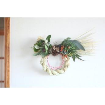 無農薬藁のしめ飾りb