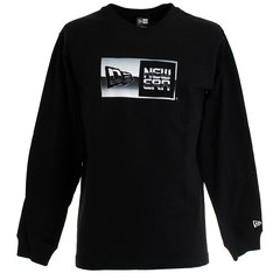 【Super Sports XEBIO & mall店:トップス】クルーネック 長袖Tシャツ メタリック ボックスロゴ 12108236