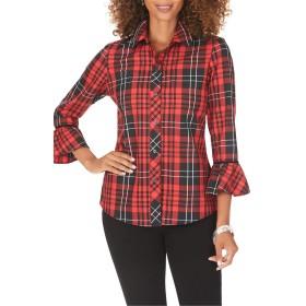 [フォックスクラフト] レディース シャツ Foxcroft Brinkley Matheson Tartan Shirt [並行輸入品]