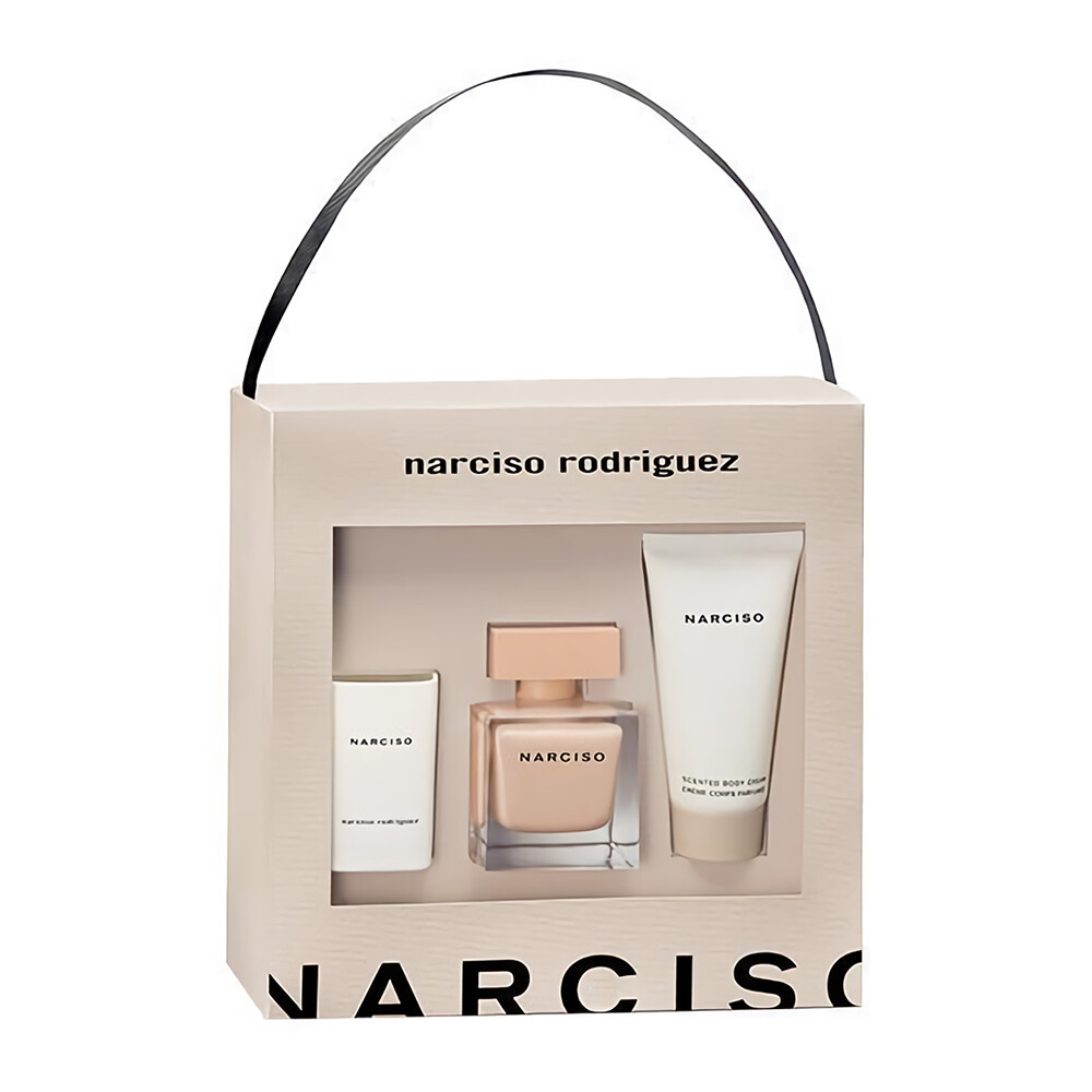 narciso rodriguez 裸時尚禮盒(淡香精50ml+蠟蠋40g+美體霜50ml)