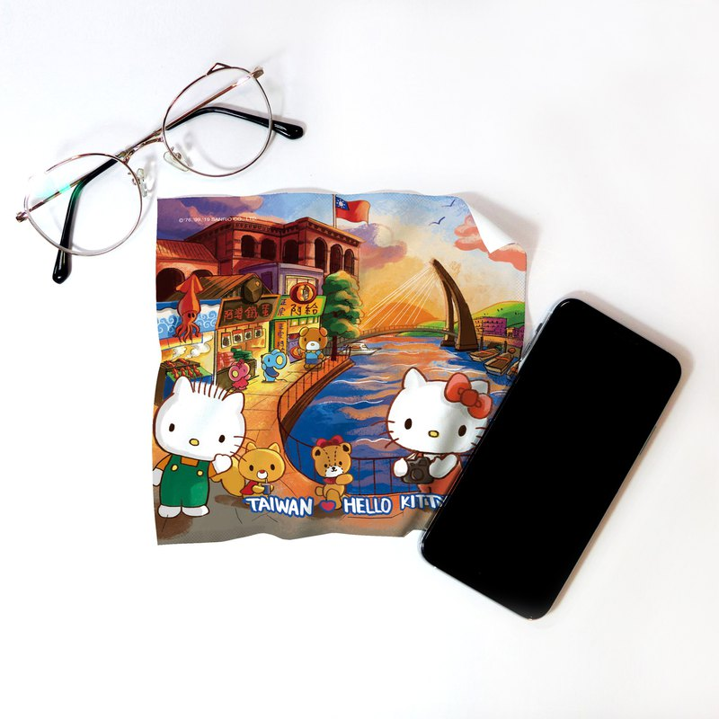 Hello Kitty 觀光淡水 萬用布 =布漾獨家設計= 伴手禮