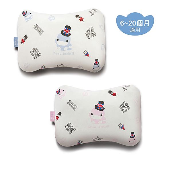 【愛吾兒】酷咕鴨 Ku.Ku 3D雙面透氣四季枕-藍/粉