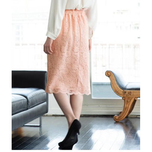 【ViS:スカート】【WEB限定】レースタイトスカート