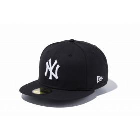 NEW ERA ニューエラ 59FIFTY ニューヨーク・ヤンキース ブラック × ホワイト ベースボールキャップ キャップ 帽子 メンズ レディース 7 (55.8cm) 12336664 NEWERA