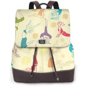 リュック レディース かわいい レザー 軽量 おしゃれ トレーニングフィットネス女の子背景 通学 通勤 旅行 ビジネス 鞄 バッグ デイバッグ