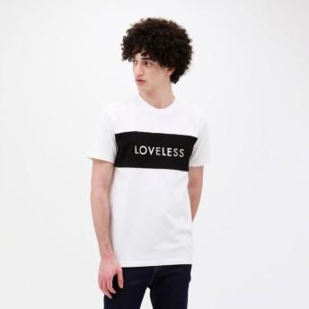 【ラブレス(LOVELESS)】 【予約販売】スタッズ ロゴ Tシャツ オフホワイト