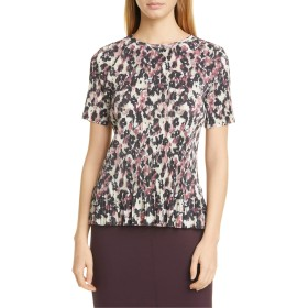 [ボス] レディース Tシャツ BOSS Etalis Floral Pleated Short Sleeve [並行輸入品]