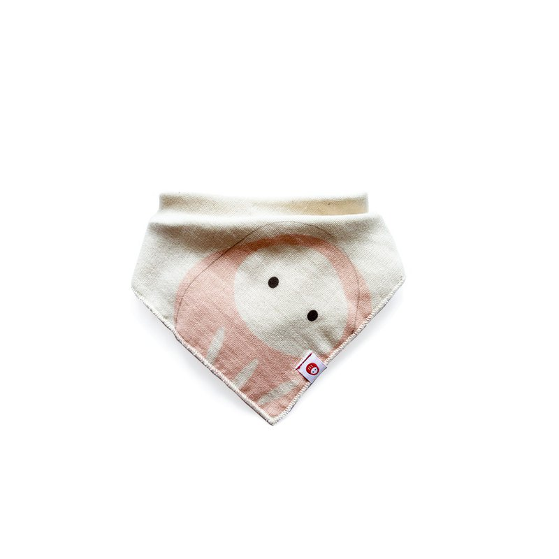 招福領巾單件 - 阿福蛙娃/櫻花粉