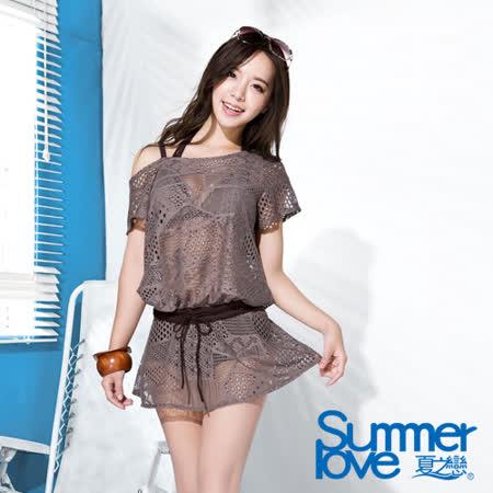 【夏之戀SUMMER LOVE】大女外搭連身裙E16713