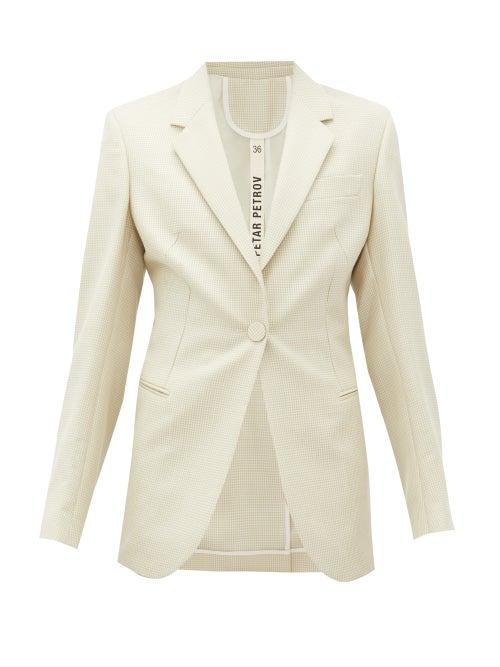 Petar Petrov - Jaffa Single-breasted Wool-blend Jacket - Womens - Ivory