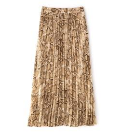 フリーズマート FREE'S MART パイソンプリントプリーツスカート ベージュ FR【税込10,800円以上購入で送料無料】