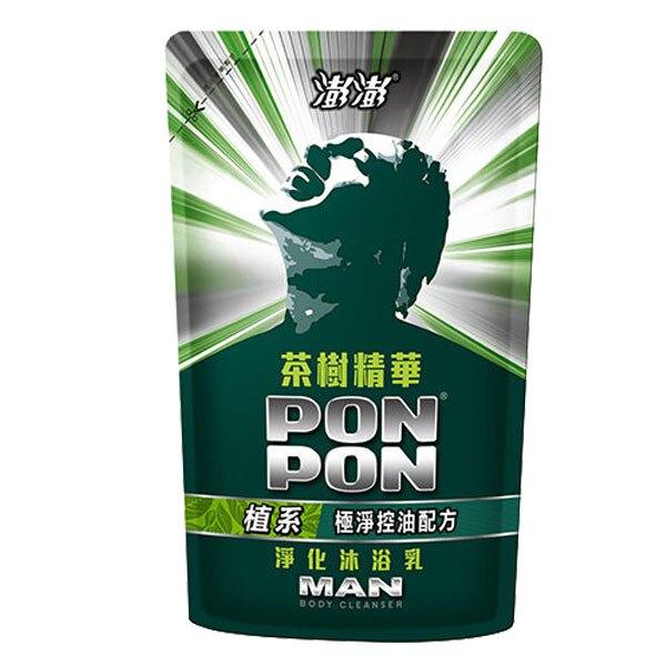 澎澎MAN茶樹精華淨化沐浴乳補充包700g(12入)/箱【康鄰超市】