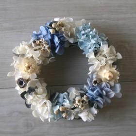 送料無料 milkyblue wreath