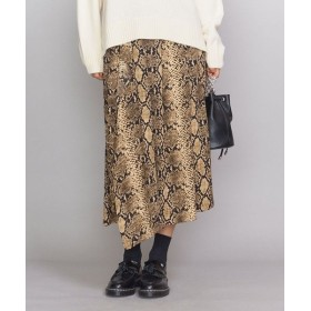 BEAUTY & YOUTH UNITED ARROWS/ビューティ&ユース ユナイテッドアローズ <GHOSPELL>パイソンプリントラップスカート BEIGE S