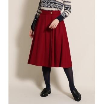 anatelier(アナトリエ) ◆【美人百花11月号掲載/Lサイズあり】サキソニーミモレカラースカート