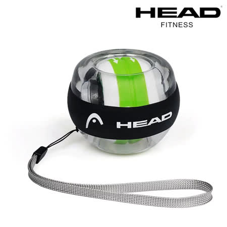 HEAD海德 炫彩螺旋腕力球 單色LED燈 專用手腕帶 止滑矽膠 免裝電 腕力訓練 抓握力 傷後復健