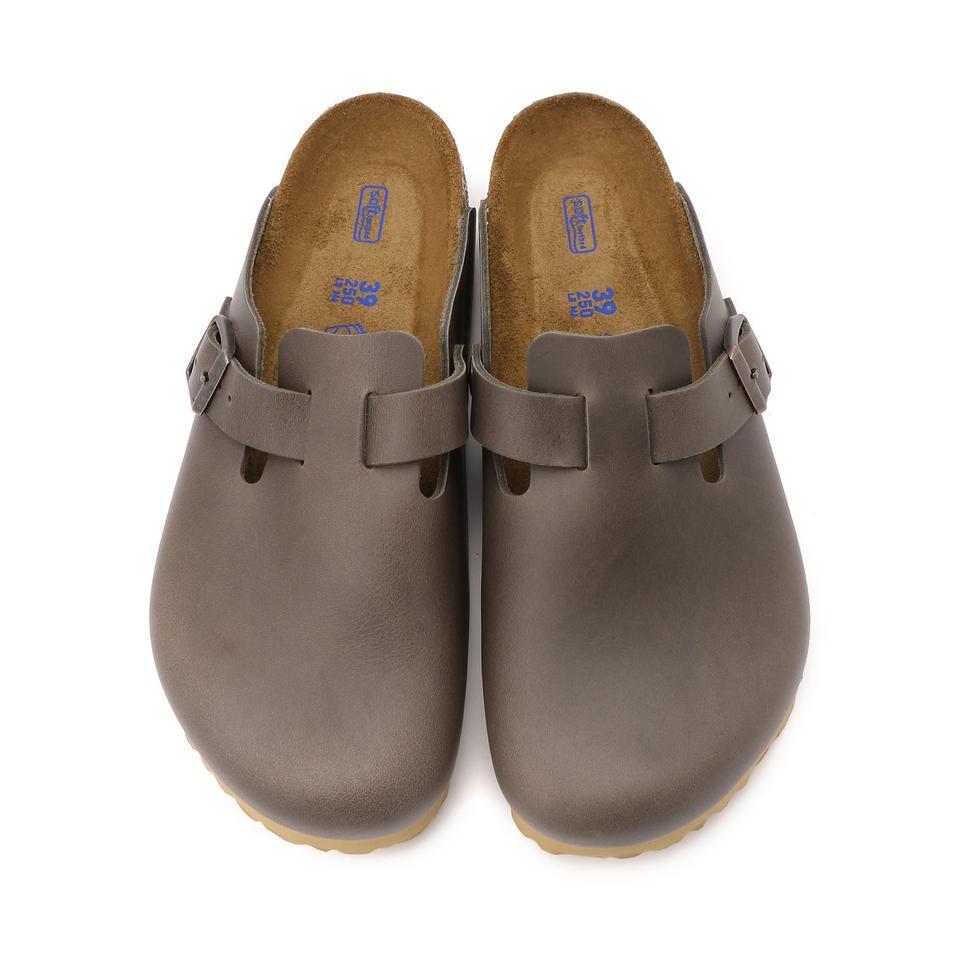 宜蘭勃肯 BIRKENSTOCK BOSTON 波斯頓 包頭拖鞋 軟墊款 復古鐵灰 1014504