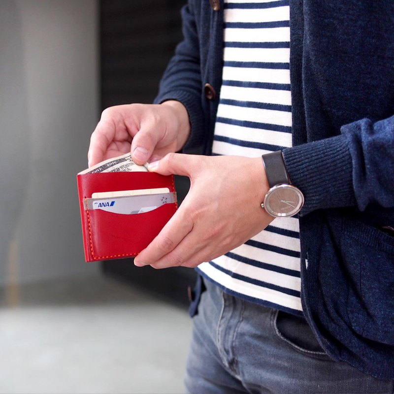 手作簡約口袋型零錢包 | 皮件手作課程 體驗活動 皮革DIY 台中