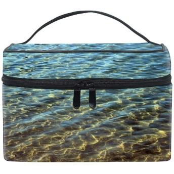 黄金の砂の海トイレタリーバッグ 収納ケース メイク収納 小物入れ 仕分け収納 防水 大容量 出張 旅行用