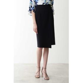 ◆ダブルクロスラップ風スカート ネイビー