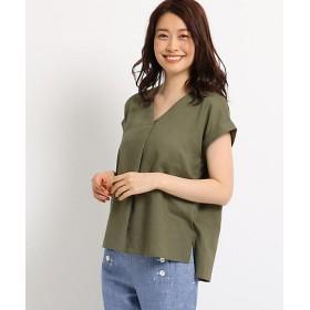 <Dessin/デッサン> レーヨン麻ライトシャツ(2001549325) カーキ【三越・伊勢丹/公式】