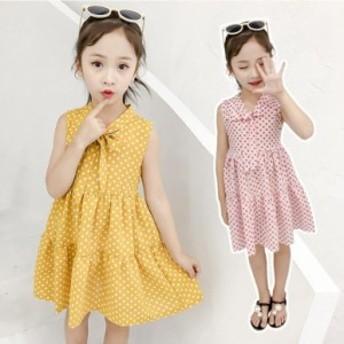 子供服 ワンピース 韓国子供服 女の子 ワンピース 膝丈 肩出しワンピース ベビー ワンピース ドレス キッズ 可愛い 夏服 通学着/通園着