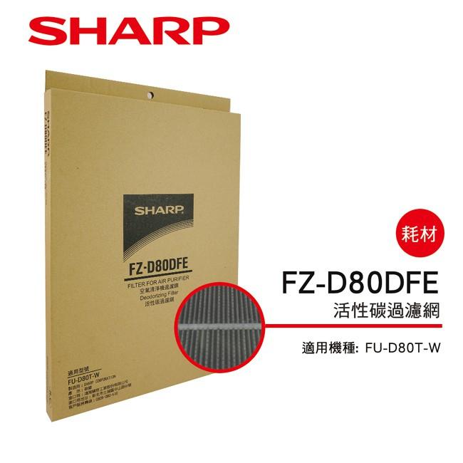 SHARP夏普 FU-D80T-W專用活性碳過濾網 FZ-D80DFE
