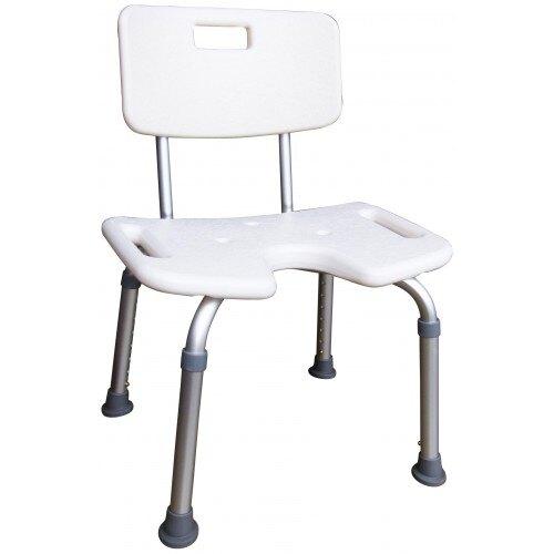 杏華9060 鋁製凹有背洗澡椅(寬48 * 深47 *高70~88 cm)