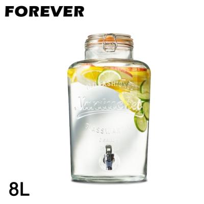 日本FOREVER 派對專用玻璃果汁飲料桶8L