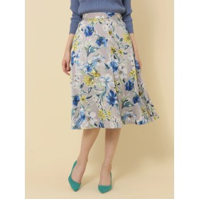 【6,000円(税込)以上のお買物で全国送料無料。】【先行予約】P.ボタニカル花柄フレアスカート