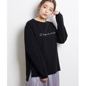 ロペピクニック ロゴロングTシャツ レディース ブラック(01) 38 【ROPE' PICNIC】