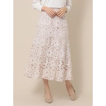 【6,000円(税込)以上のお買物で全国送料無料。】【先行予約】レースマーメイドスカート