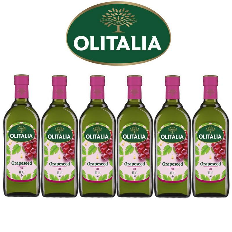 Olitalia奧利塔超值葡萄籽油禮盒組(1000ml x 6瓶)