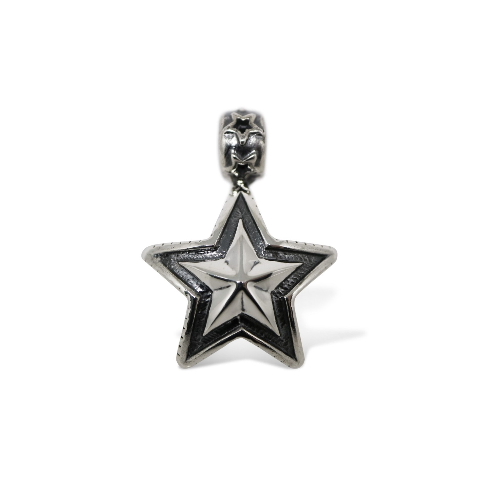 DOUBLE SIDED  FACETED STAR BEAD PENDANT  [USD $660]