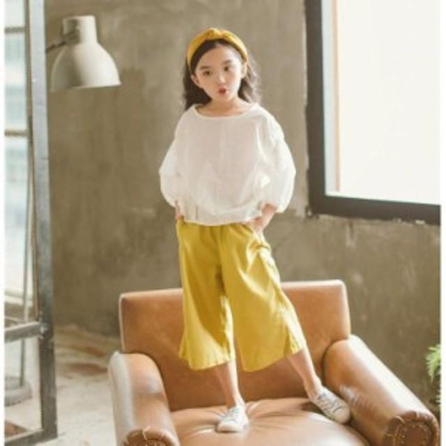 子供服春夏着 女の子 2点セットファッション感 半袖上品 アルファベットTシャツ&花柄ロングパンツキッズ 可愛い学生服 韓国風Tシャツト