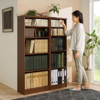 色とサイズが選べるオープン本棚 幅44.5cm高さ150cmライトナチュラル