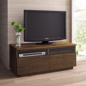 ウォルナット天然木テレビ台 幅100cmウォルナット
